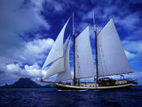Scenic View of a Sailing Ship Photographic Print by Jodi Cobb