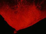 Kimanura Volcano Erupting Photographic Print by Chris Johns