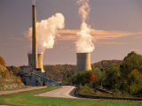 Road and Nuclear Power Plant Photographic Print by Peter Krogh