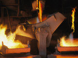 Molten Copper is Poured into Molds at Chuquicamata Copper Refinery Photographic Print by Joel Sartore