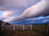 Dramatic Cloud Formations over a Pasture Near Selfoss Photographic Print by Medford Taylor
