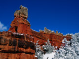 Red Rock Formations in a Winter Landscape Photographic Print by Raymond Gehman