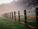 Split-Rail Fence in the Early Morning Mist Photographic Print by Richard Nowitz