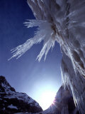 Sunlight Glints on the Bearded Face of Gangotri Glacier Fotodruck von George F. Mobley