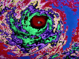 Color-Enhanced View of the Eye of a Hurricane Photographic Print by Paul Chesley