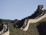 Tourists Walk Along a Section of the Great Wall of China Photographic Print by Gordon Wiltsie