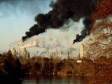 Smoke Billows from an Oil Refinery Near Baton Rouge Photographic Print by Sam Kittner