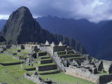 The Inca Ruins of Machu Picchu High in the Andes Mountains Photographic Print by Jason Edwards