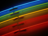 A Slice of Neon Rainbow in a Bookstore in Rockville Photographic Print by Stephen St. John