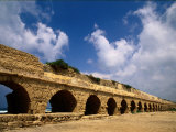 Remains of the Roman Aqueduct at Caesarea Photographic Print by Richard Nowitz