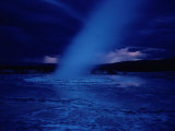 A Moonlit Geyser Erupts Photographic Print by Raymond Gehman