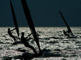 Windsurfing at Cape Hatteras National Seashore Stampa fotografica di Gehman, Raymond