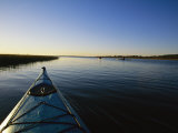 Kayakers Explore the Waterway Around Carrot Island Photographic Print by Stephen Alvarez