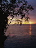 The Sun Sets on Lake Superior in the Apostle Islands Photographic Print by Raymond Gehman
