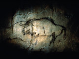 View of a Bison Painted at Lascaux Approximately 17,000 Years Ago Photographic Print by Sisse Brimberg