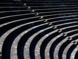 Curved Stone Seating at One of Two Roman Theaters in Lyon Photographic Print by Todd Gipstein