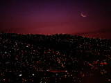 Night View of Valparaiso Photographic Print by Pablo Corral Vega
