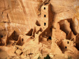 Ancient Anasazi Indian Cliff Dwellings Fotografisk tryk af Paul Chesley