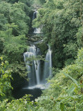 View of a Waterfall in a Rain Forest, Costa Rica Photographic Print by Michael Melford