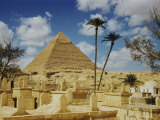 The Great Pyramid of Cheops Seen Behind an Arab Cemetery Photographic Print by Maynard Owen Williams