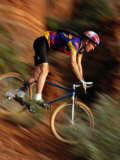 A Man Mountain Biking Near Sedona Fotoprint van Bill Hatcher