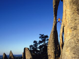 A Climber Leads a Route at the Needles in South Dakota Photographic Print by Bill Hatcher