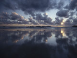 Storm Clouds over Tidal Flat with Reflection Photographic Print by Jason Edwards