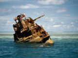 Shipwreck on Tubbataha Reef Photographic Print by Wolcott Henry