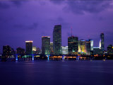 Twilight View of the Miami Skyline Photographic Print by Richard Nowitz