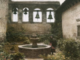 View of a Courtyard in the Old Mission Photographic Print by Charles Martin