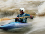 A Man Paddling the Whitewater of the Animas Photographic Print by Bill Hatcher