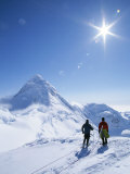 Mountain Climbers Contemplate a Distant Peak in Denali National Park Photographic Print by John Burcham
