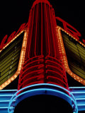 Colorful Neon Centerpiece on the Art Deco Facade a Theater Photographic Print by Stephen St. John