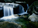 A Small Waterfall Located in the Borneo Rainforest Photographic Print by Tim Laman