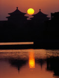 Beihai Lake and Pagoda Photographic Print by Dean Conger