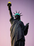 Twilight View of the Illuminated Statue of Liberty Photographic Print by Paul Chesley