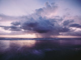 A Morning Squall Produces Rainfall over the Water Photographic Print by Skip Brown