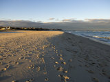 Cape Cod Foot Prints on Sandy Beach in Chatham, Massachusetts Photographic Print by Keenpress
