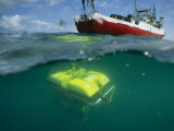 An Unmanned Submersible Conducts Research in the Black Sea Lámina fotográfica por Randy Olson