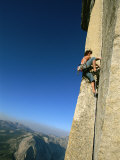 A Man Climbs Half Dome, Yosemite, California Photographic Print by Jimmy Chin