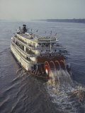 The Delta Queen, a Steamboat, Makes its Way up the Mississippi River Photographic Print by Ira Block