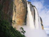 Angel Falls, Cliffs and Trees Photographic Print by Mark Cosslett