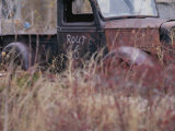 An Abandoned Old Truck Sits in a Field of Autumn Colored Grasses Photographic Print by Roy Gumpel