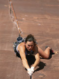 A Young Woman Climbing in Canyonlands National Park, Utah Photographic Print by Jimmy Chin