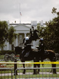 24 Hours after the 9/11 Attacks the White House is on Security Alert Photographic Print by Stephen St. John