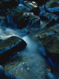 A Small Creek Rushs over a Rocky Streambed Photographic Print by James P. Blair