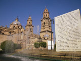 Cathedral of Morelia, Mexicop; Morelia, Capital of Michoacan, is a Colonial City Founded in 1514 Photographic Print by Gina Martin