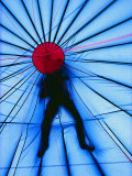 The Figure of a Person is Silhouetted Atop a Hot-Air Balloon Photographic Print by Monika Klum
