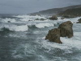 Heavy Surf Pounds a Rocky Shoreline Photographic Print by Bates Littlehales