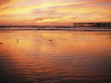 Pismo Beach and Pier at Sunset Photographic Print by Michael S. Lewis